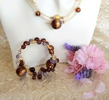 Gypsy Twist On Bracelet Murano Glass - Made in ITALY - Plum Colors