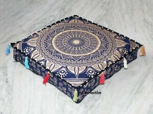 18 Inch Floor Seating Cushion Covers, Kids Room Pillow Covers Mandala Cover