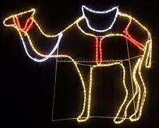 120CM Wide LED Nativity Standing Camel Christmas Motif Rope Lights (36V Safe)