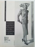 1947 May Co Company Los Angeles California women's suit fashion vintage ad