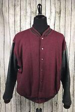 Vtg GOLDEN BEAR Mens Sz XXL Jacket Coat Lettermans Wool Leather USA Maroon