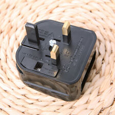 Round 2 Pin EU Plug 4.0 mm to Removable 3 Pin UK Converter AC Power