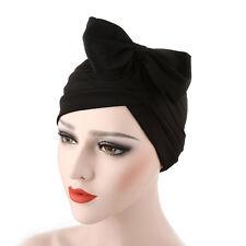 Stylish Women Bow Pleated Turban Hat Chemo Cancer Hair Loss Cap Head Wrap Scarf