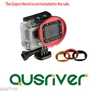 52mm Diving Filter Lens Underwater Scuba Standard Housing for GoPro Hero 4/3+