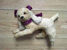 Antique straw filled dog teddy bear