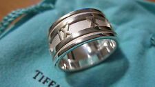 Tiffany & Co. Wide Atlas Numeric Ring Roman Numerals 9.25 Sterling Silver AG 925