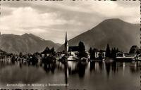 Rottach Egern Postkarte 1958 gelaufen Teilansicht mit Wallberg und Bodenschneid