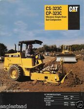 Equipment Brochure - Caterpillar - CS-323C CP-323C Soil Compactor - 1996 (E1050)