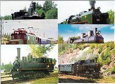 Treni - Locomotive - Lotto da 6 cartoline del settore