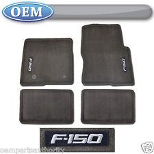 OEM NEW 2012-2014 Ford F-150 SUPER CAB Carpet Floor Mats ESPRESSO w/ Logo
