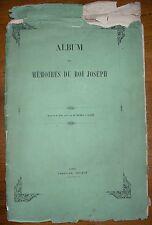 NAPOLEON BONAPARTE BATAILLES ALBUM DES MEMOIRES DU ROI JOSEPH 20 GRAVURES 1854
