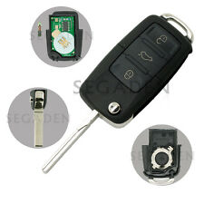 Flip Key Case 434MHz fit for VOLKSWAGEN SEAT SKODA 3BTN  Key 1K0 959 753 G 8000M