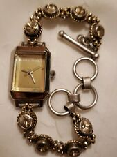 Ladies NINE WEST Bracelet Band Watch Toggle Clasp New Battery