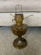 More details for vintage british 23 aladdin brass oil lamp base and burner and spider tripod