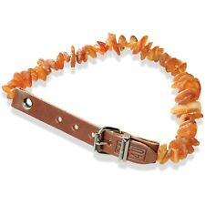 Baltic Amber Leather Collar LC40 for Dogs Natural prevention against ticks fleas