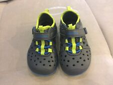 Boys Stride Rite Phibian Size 5 Blue Rubber Shoes Sandals Made To Play