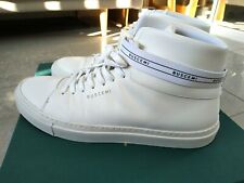 Buscemi Mens 100Mm Sport White Leather High Top Sneaker Size 41