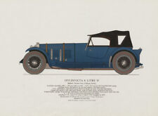 """Invicta 4.5 litre """"S"""" (1933) sports car print by George Oliver. Cobham 1967"""