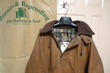BARBOUR- A60 LONGSHOREMAN WAXED COTTON SMOCK-REWAXED  BY BARBOUR -MADE@UK-RARE-L