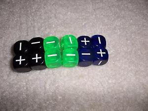 FATE FUDGE RPG set of 12 dice