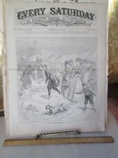 Vintage Print,ON BEACH NEWPORT,Rhode Island,1870