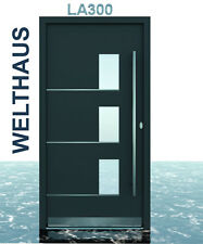 Haustür Türen  WH75 Alumium Tür mit Kunststoff  LA300 Modern+Edelstahl Griffe
