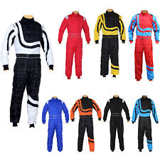 Adult Karting Race Rally suits overall Poly cotton One Piece Karting Suit New