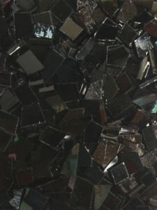 Mosaic Glass: BLACK, 5 ounce Stained Glass Pack (about 100 Hand Cut Pieces)