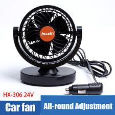 D.C 24V Mini Vehicle Cooling Slient 360°Rotation Air Fan For Car Van Bus Taxi