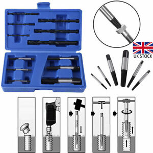 12Pcs/Set Damaged Broken Screw Extractor Stud Puller Bolt Remover Easy Out Kit
