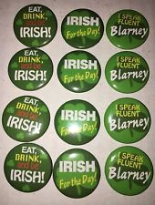 saint patrick's day Mini Buttons I Speak Fluent Blarney Eat