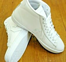 Converse Mens PL 76 Mid Leather Basketball Shoes Classic Triple White Size 9