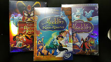 DVD Bundle Set:Aladdin Trilogy First Platinum Return of Jafar King of Thieves
