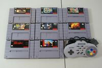 SNES Video Game Lot  Super Nintendo Games + ascii pad Turbo Controller Authentic