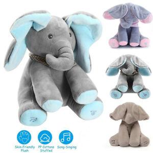 Baby Talking PP Cotton Elephant Soft Plush Doll Singing Stuffed animals
