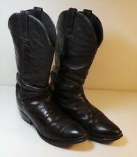 Men's Vintage Durango Black Leather Western Cowboy Boots Size 7 1/2