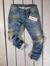 RRP $157 NEW DIESEL WOMEN'S JEANS GRUPEE-NE 0600U SWEAT PANTS JOGG JEANS