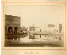 Algérie, Ouled Djellal, Place  Vintage albumen print.  Tirage albuminé  17x2