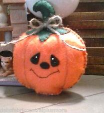 Handmade Felt Halloween Pumpkin Bowl Ornies/Ornament