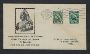 NEWFOUNDLAND FDC 1937: COMMENMORATING 100TH ANNIVERSARY QV'S ACCESSION TO THRONE