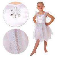 Infantil Blanco Copo de Nieve Fairy Disfraz Frozen Libro Semana Carnaval