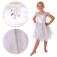 INFANTIL NAVIDAD Copos de nieve blancos disfraz de hada Frozen LIBRO Fiesta