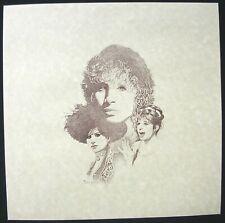 BARBRA STREISAND John Ballou Vintage Intaglio Etchings Poster Print Mint- 1980's