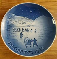 1972 Bing & Grondahl B&G Christmas in Greenland plate 7 inch #d 8000/9072