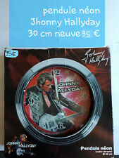 Pendule néon Johnny Hallyday