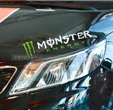 Amazing Monster Headlight Eyebrow Car Stickers Decals Graphic (White ,Left)