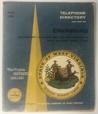 Vintage May 1963 Clarksburg & 6 other Towns, West Virginia Telephone Directory