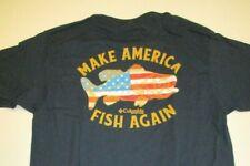 Columbia New Make America Fish Again Graphic T-Shirt Men's Medium Navy