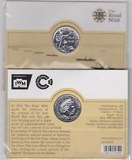 SEALED 2014 SILVER £20 COIN OUTBREAK OF WWI IN A SMALL UNCIRCULATED PACK