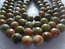 Faceted Unakite Jasper Stone MALA 108+1 BEADS 8 Mm Rosary